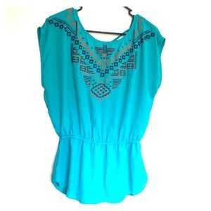 Maurices Tribal Print Blouse